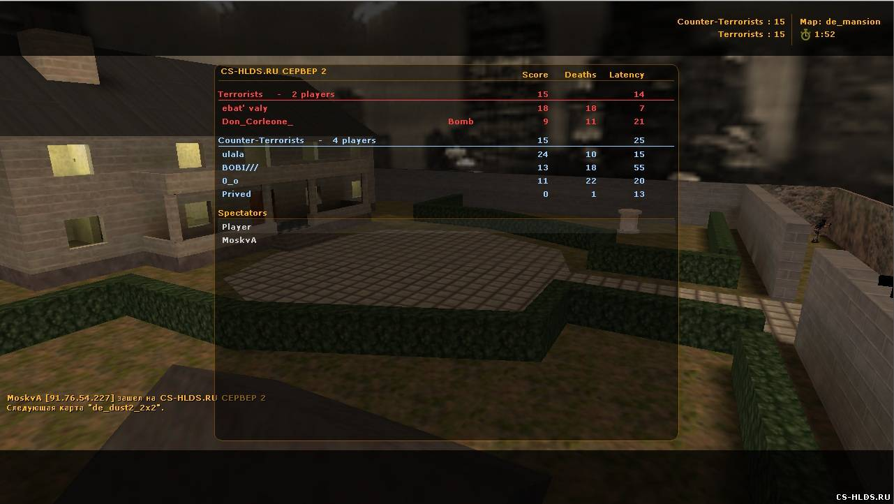 ������� ��������� ���� counter strike 1.6 � ��������