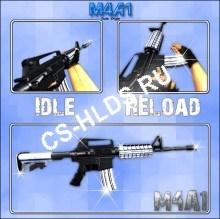 Скачать бесплатно M4A1 STYLE BlackWhite - Colt M4A1 - Модели оружия cs 1.6