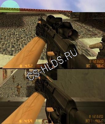 Default sg552 with and without scope (also for aug)
