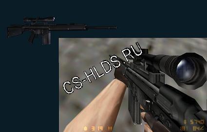 Скачать бесплатно HK MSG90 - G3SG-1 - Модели оружия cs 1.6