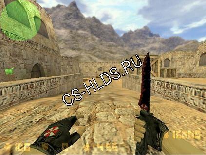 Скачать бесплатно Umbrella Corp Knife - Нож ( Knife ) - Модели оружия cs 1.6