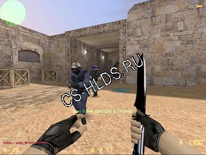 Скачать бесплатно Black N White - Нож ( Knife ) - Модели оружия cs 1.6