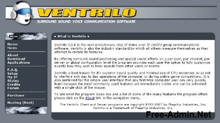 Ventrilo Server 3.0 for Windows