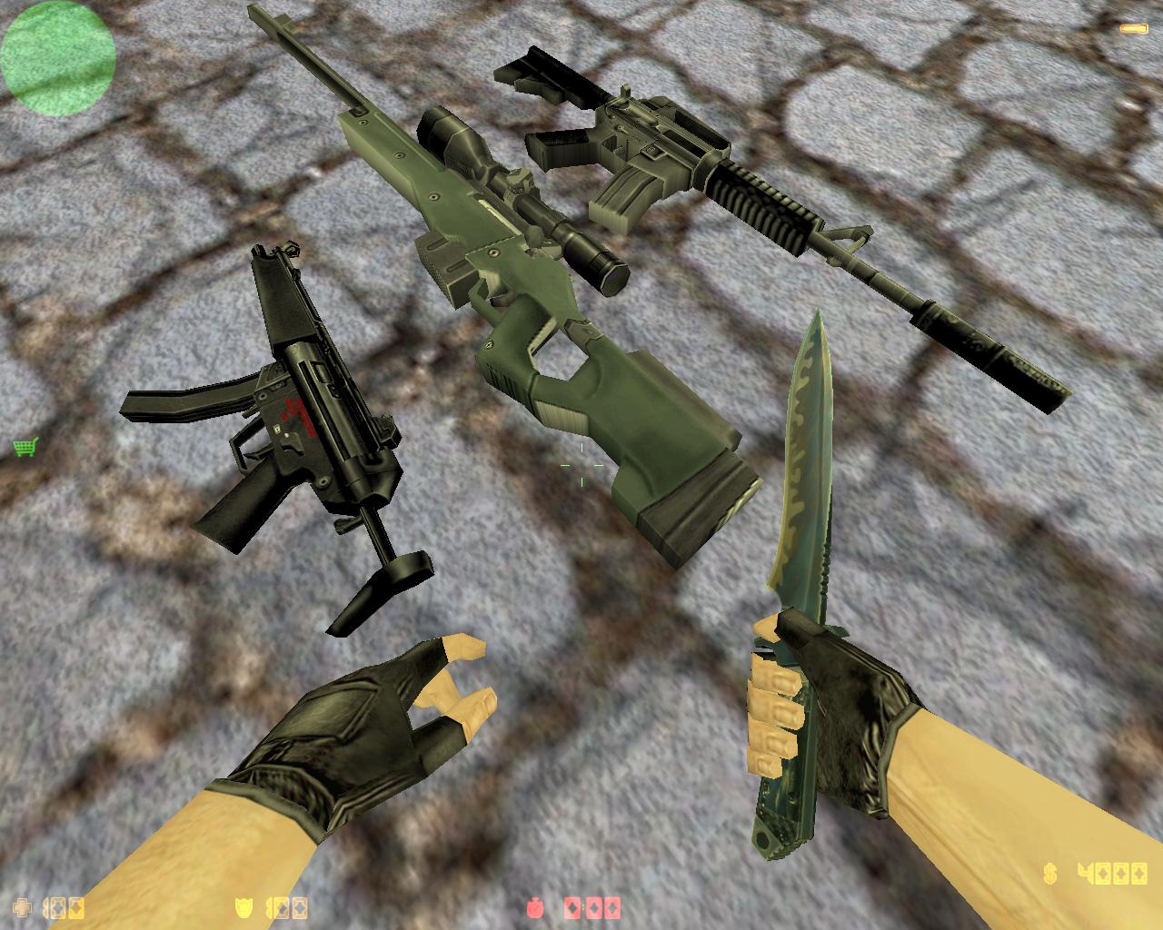 Стандартные модели оружия для cs 1.6