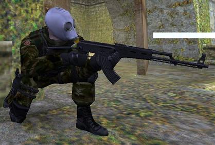 Spetsnaz in gas mask
